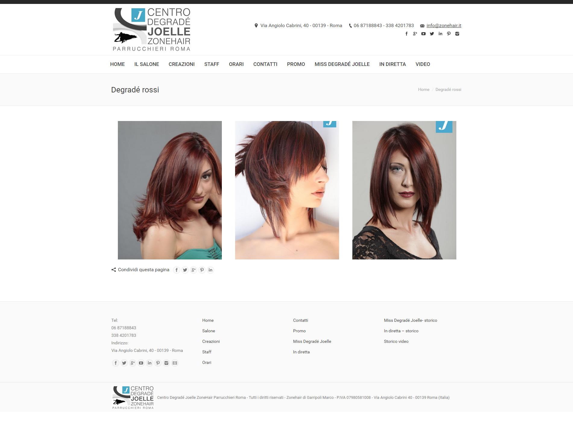 restyling grafico zonehair agenzia web roma