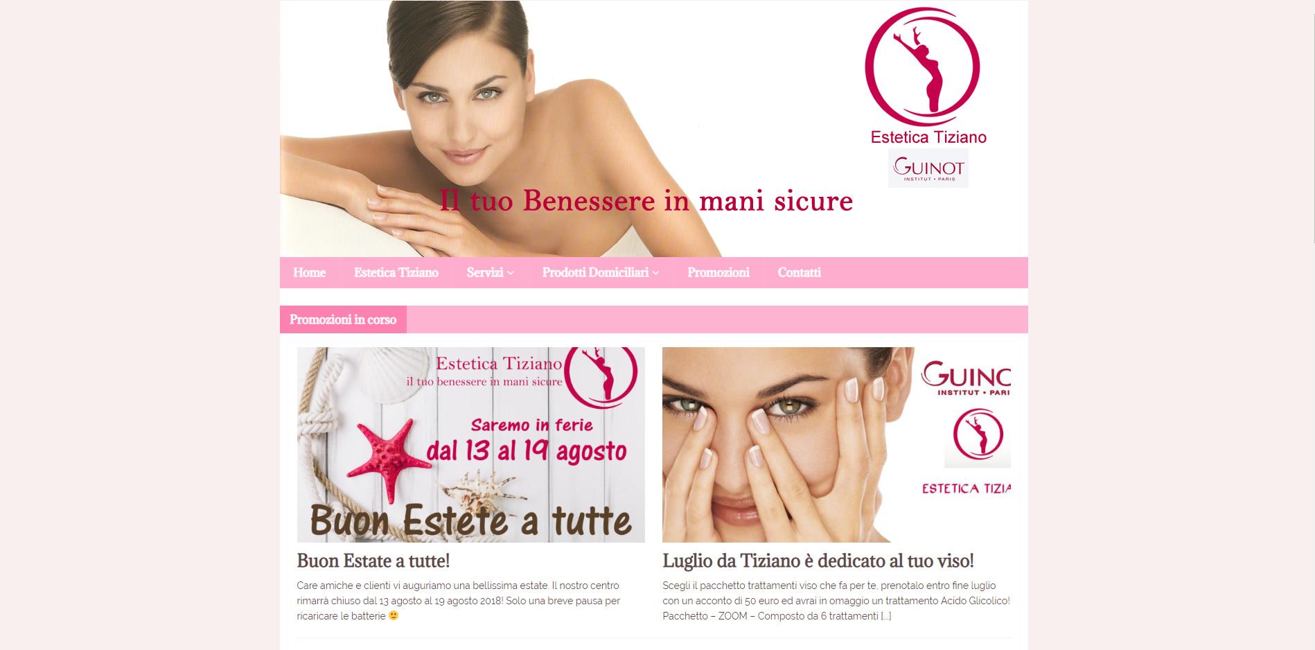 Estetica Tiziano sito web in WordPress agenzia digitale Roma