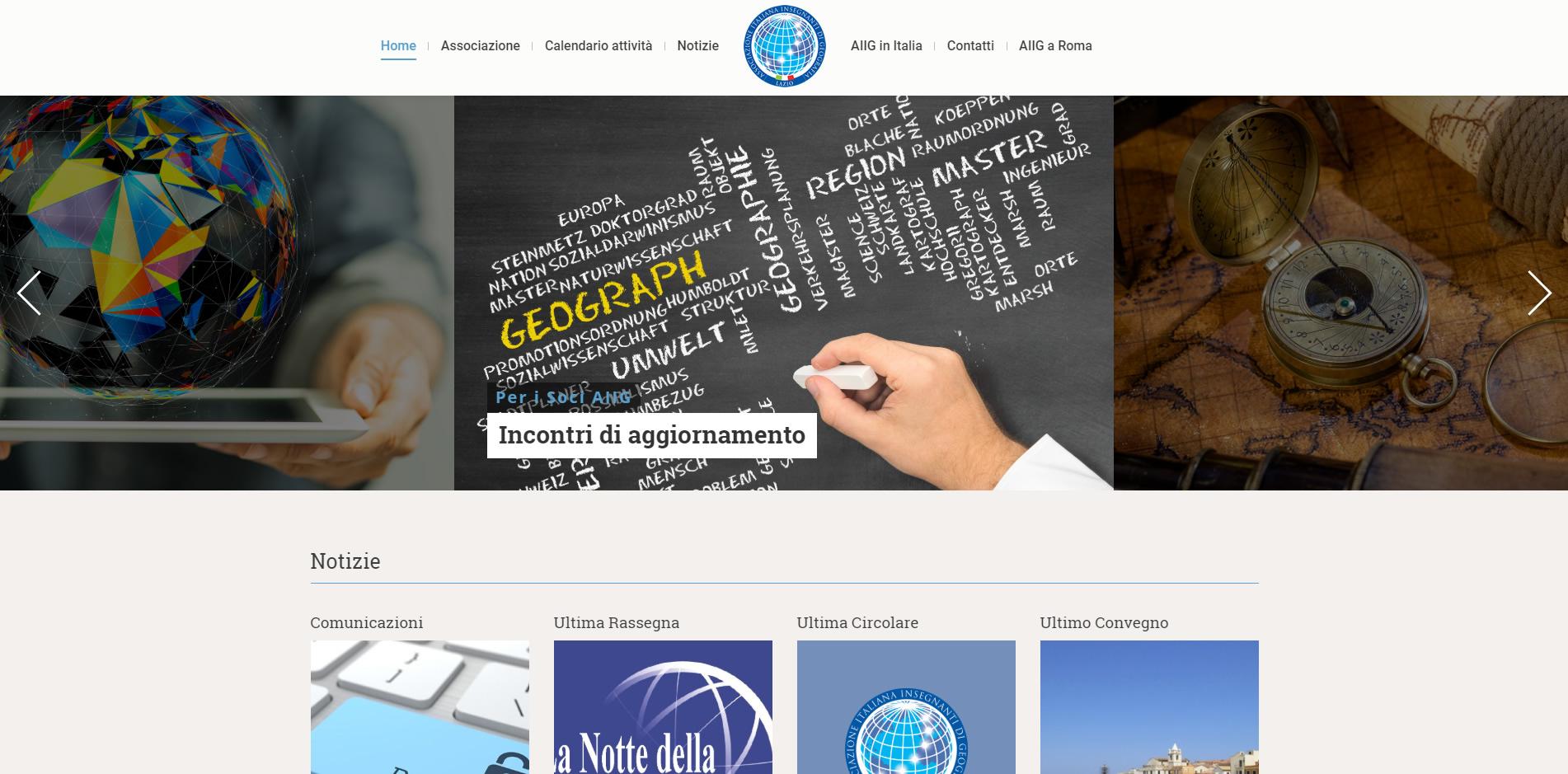 AIIG Lazio sito web responsive in WordPress agenzia web roma