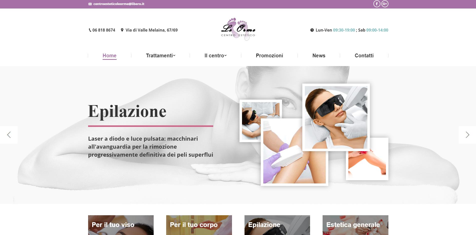 centro estetico le orme sito web agenzia digitale roma
