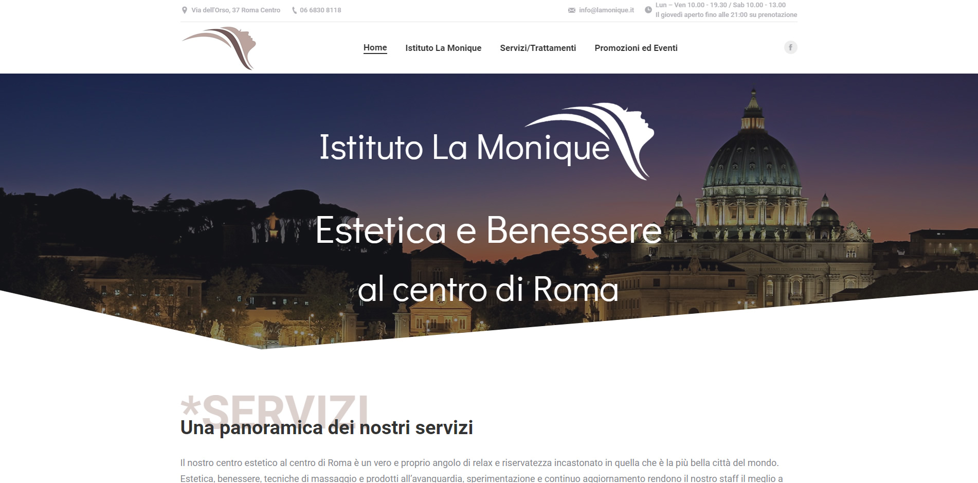 istituto la monique sito in wordpress agenzia web roma