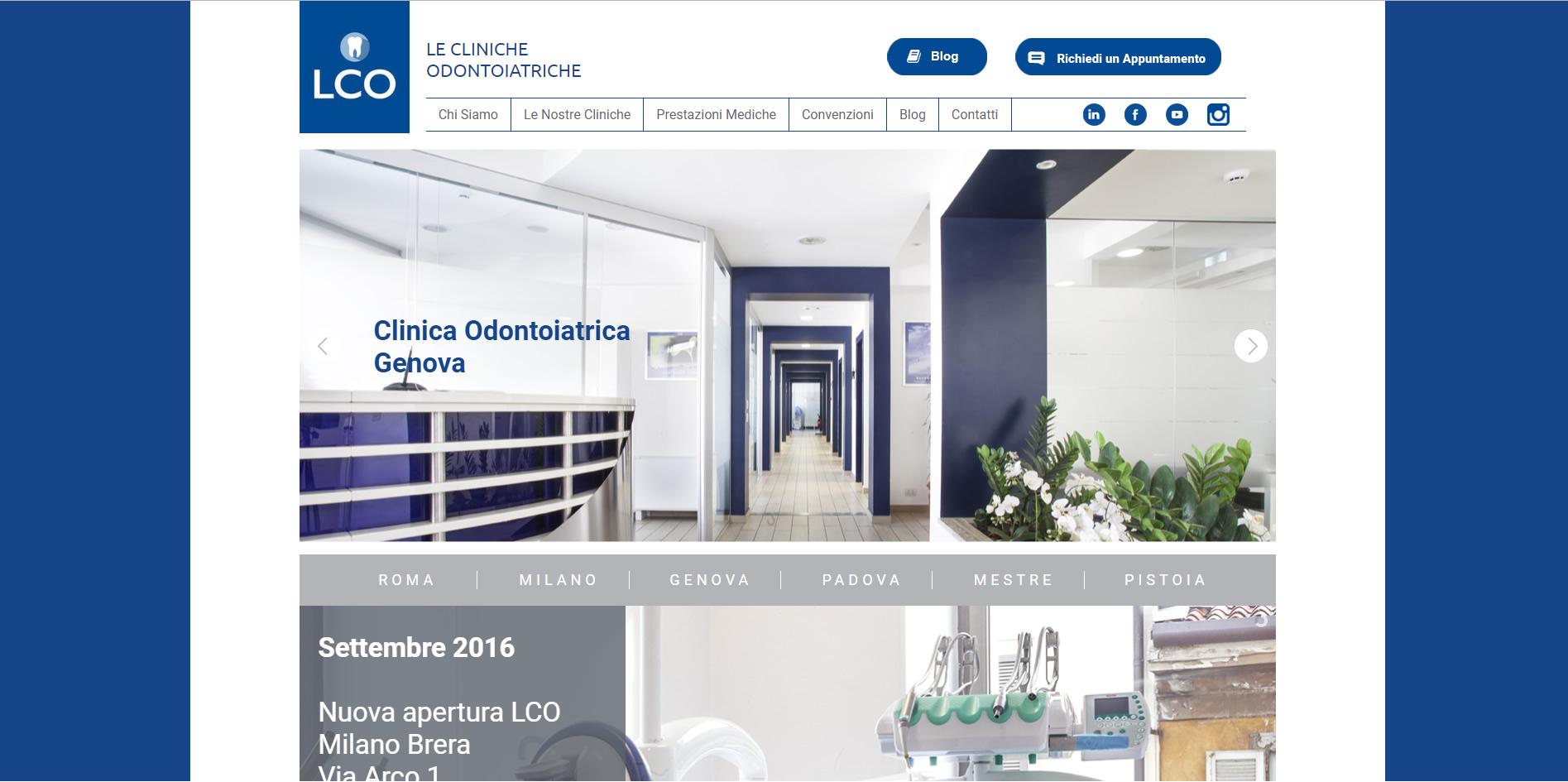 LCO Le Cliniche Odontoiatriche CSS FrontEnd Developer