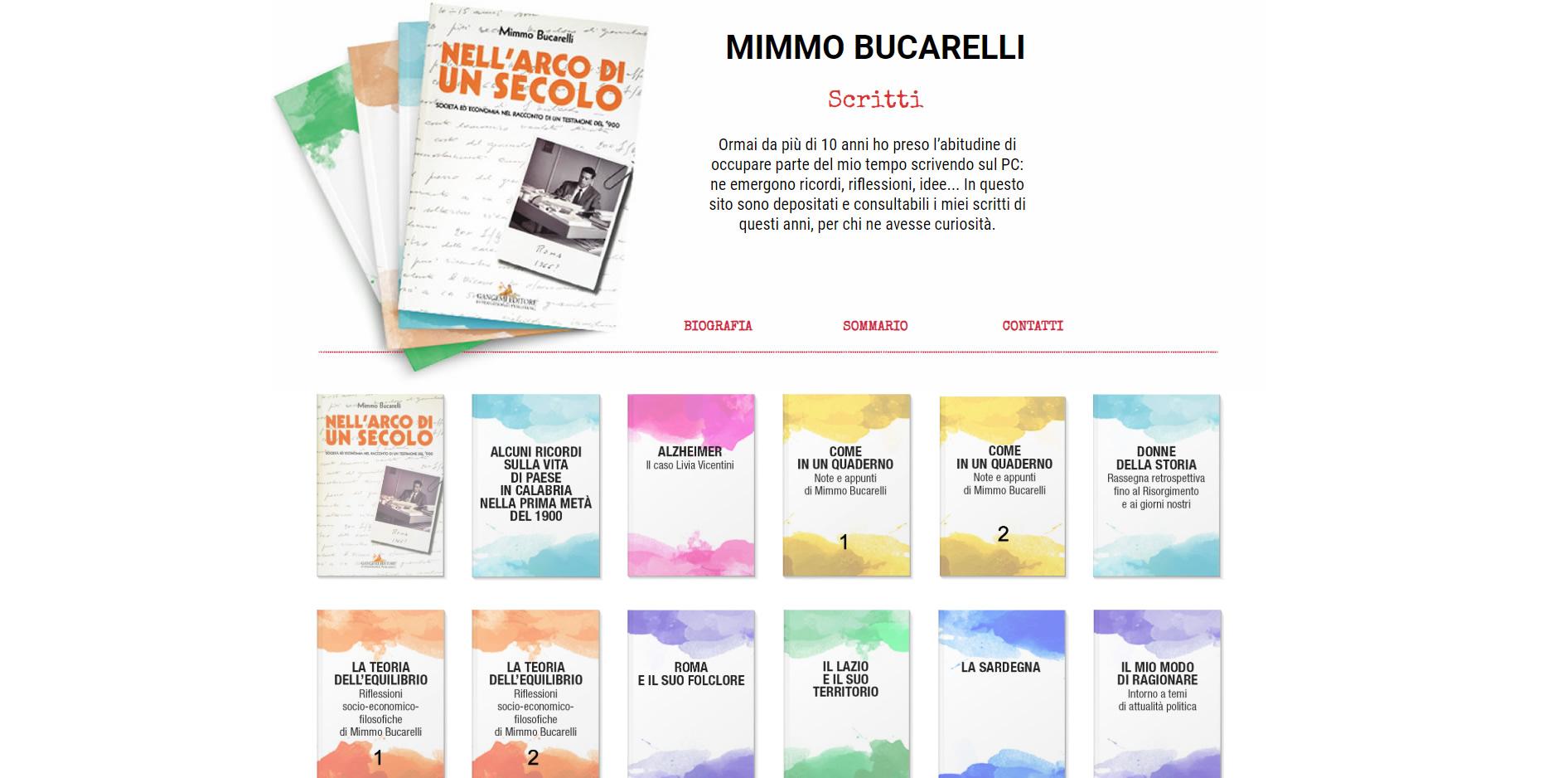 Mimmo Bucarelli scrittore realizzazione css e lato frontend agenzia web roma