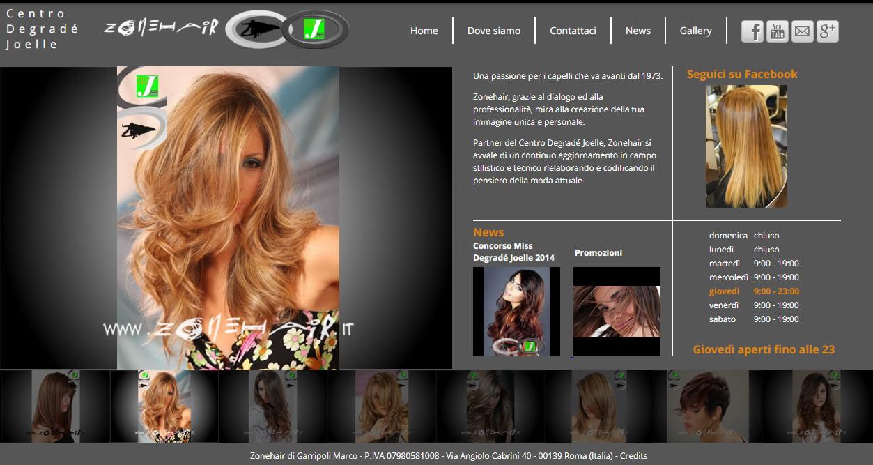 restyling grafico zonehair agenzia digitale roma