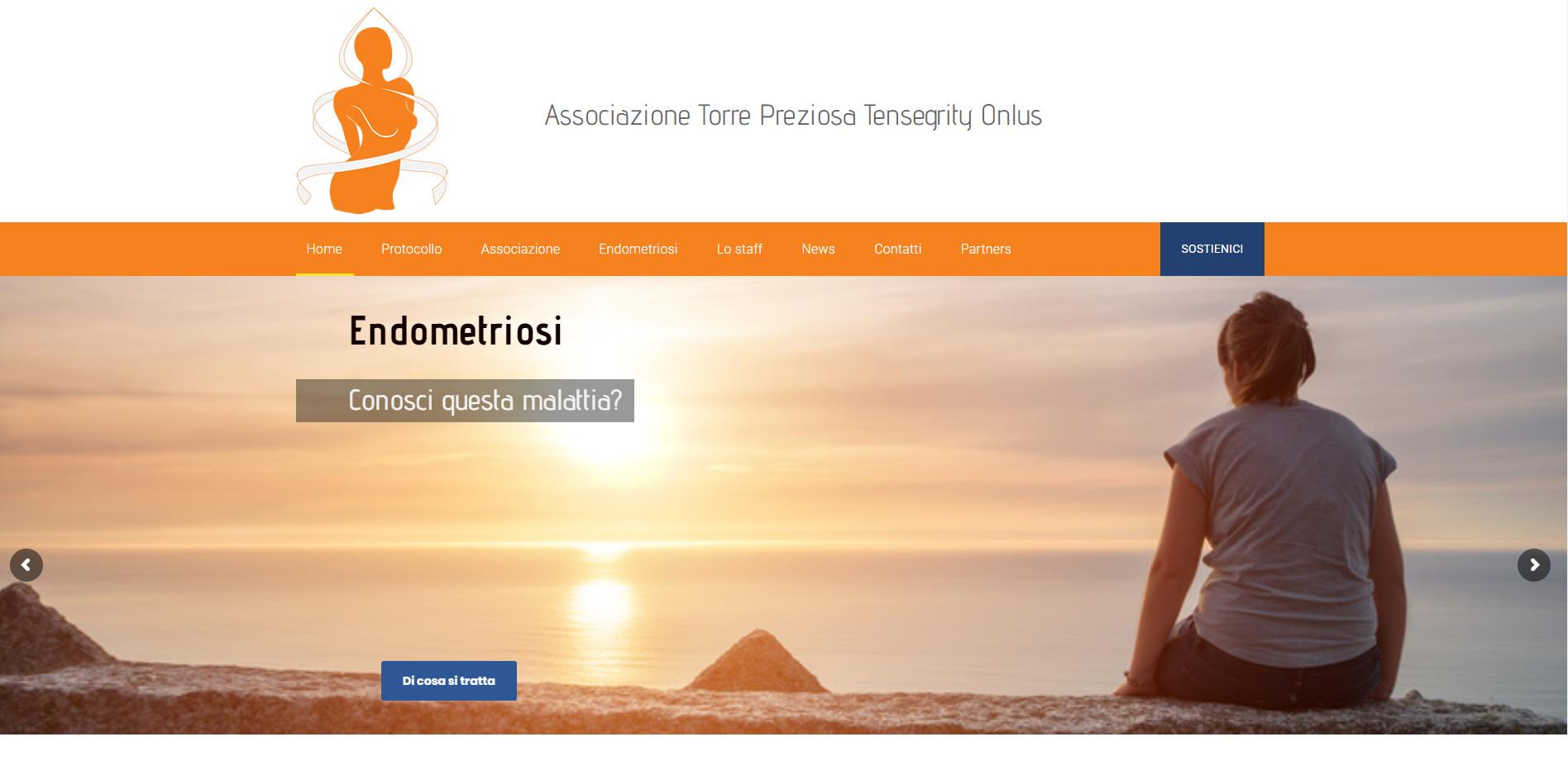 Torre Preziosa Tensegrity ONLUS sito WordPress agenzia web roma