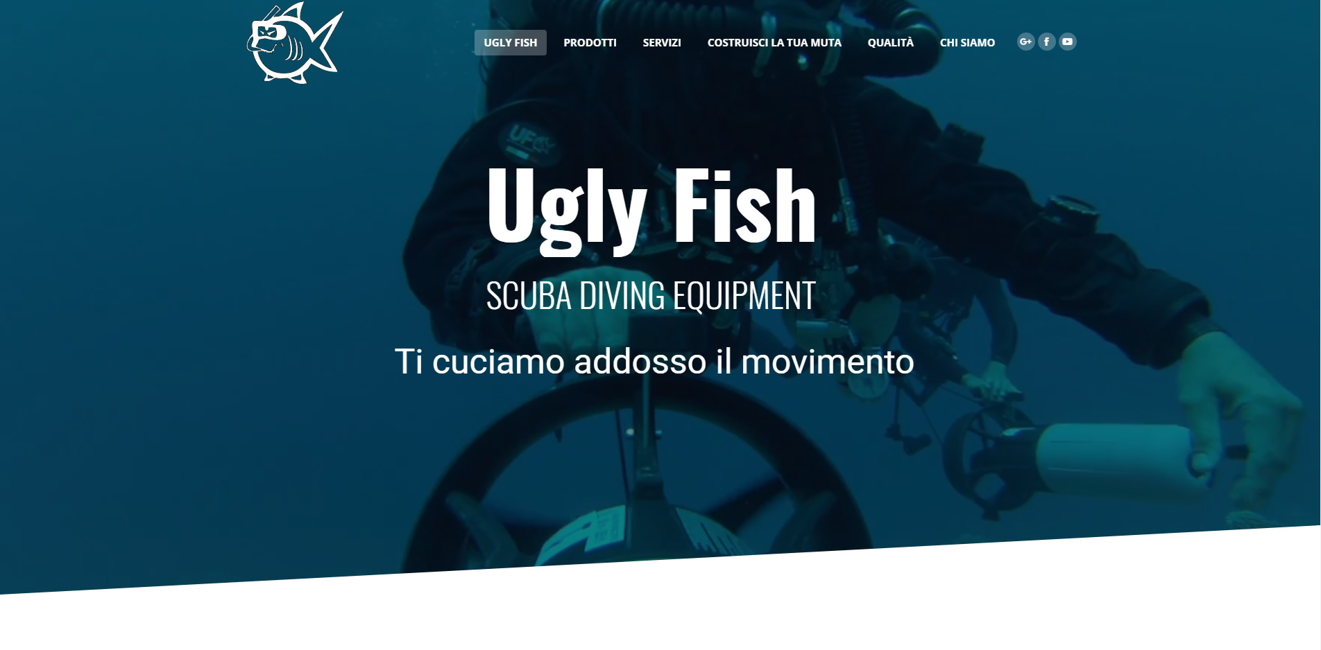 Ugly Fish sito web in wordpress agenzia web roma