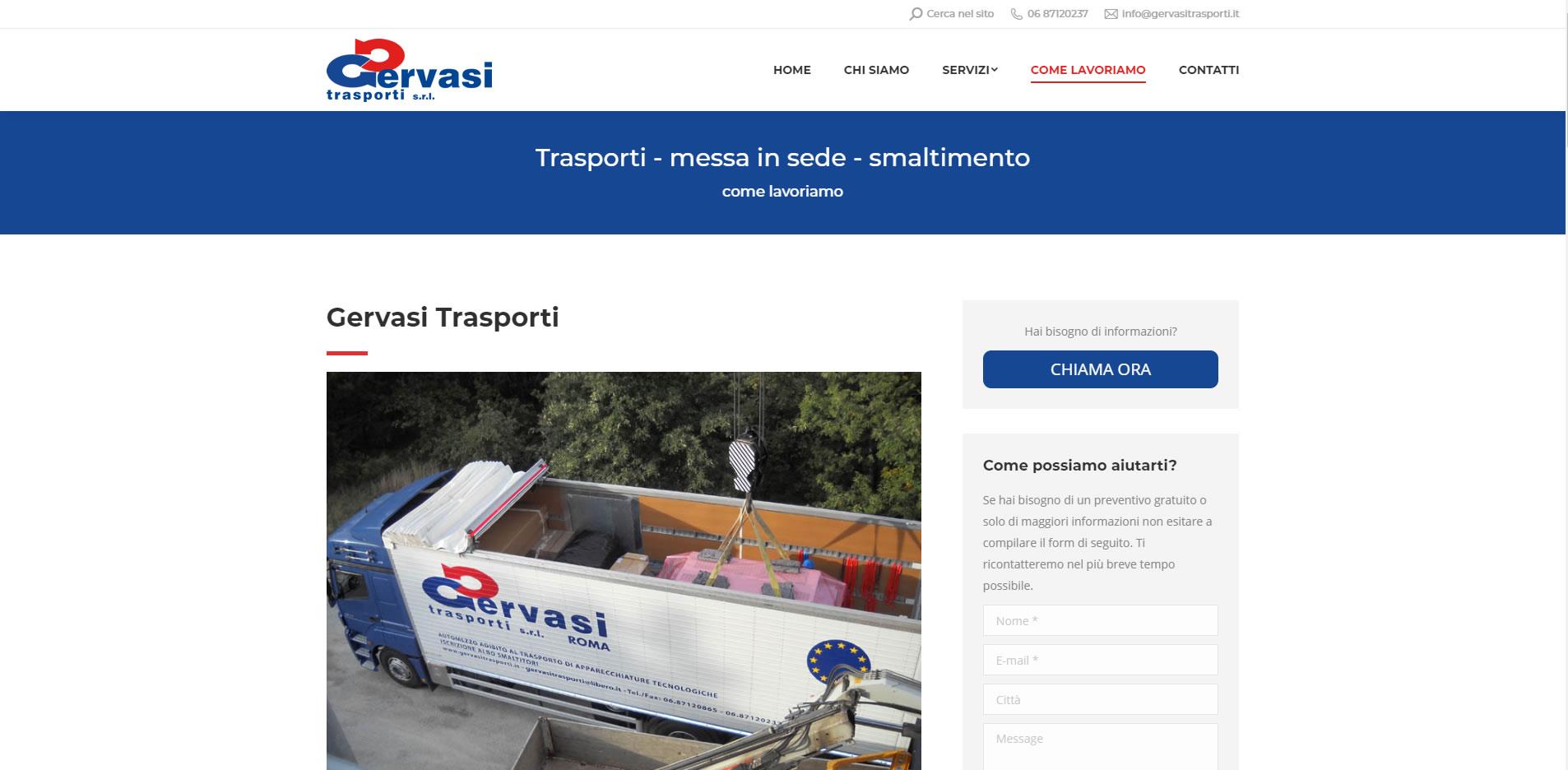 gervasi trasporti elettromedicali sito web turnkey